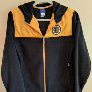 Boy's Reebok Boston Bruins Zip Hoodie Large